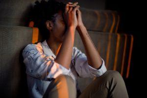 Black woman taking time to reduce stress